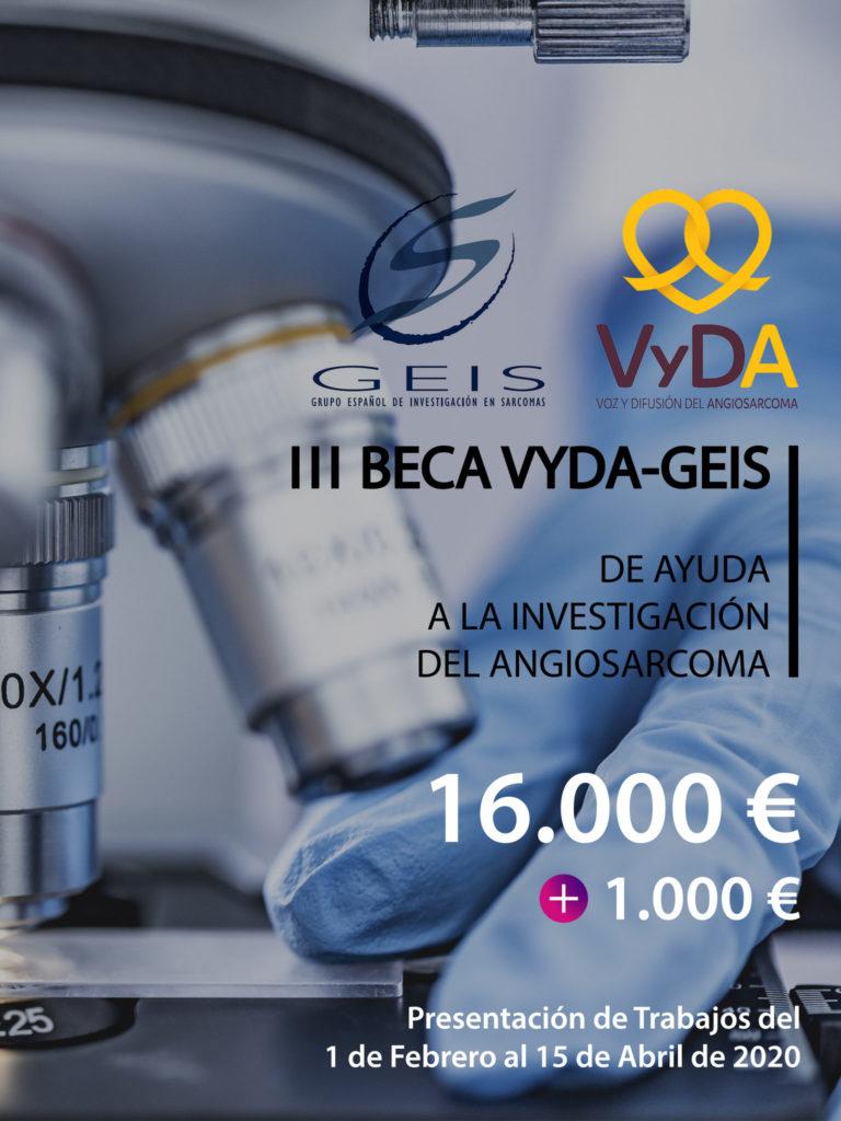 III convocatoria BECA VYDA-GEIS de Ayuda a la Investigación en ANGIOSARCOMA