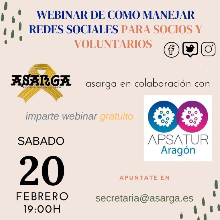 Webinar de como manejar redes sociales para socios y voluntarios